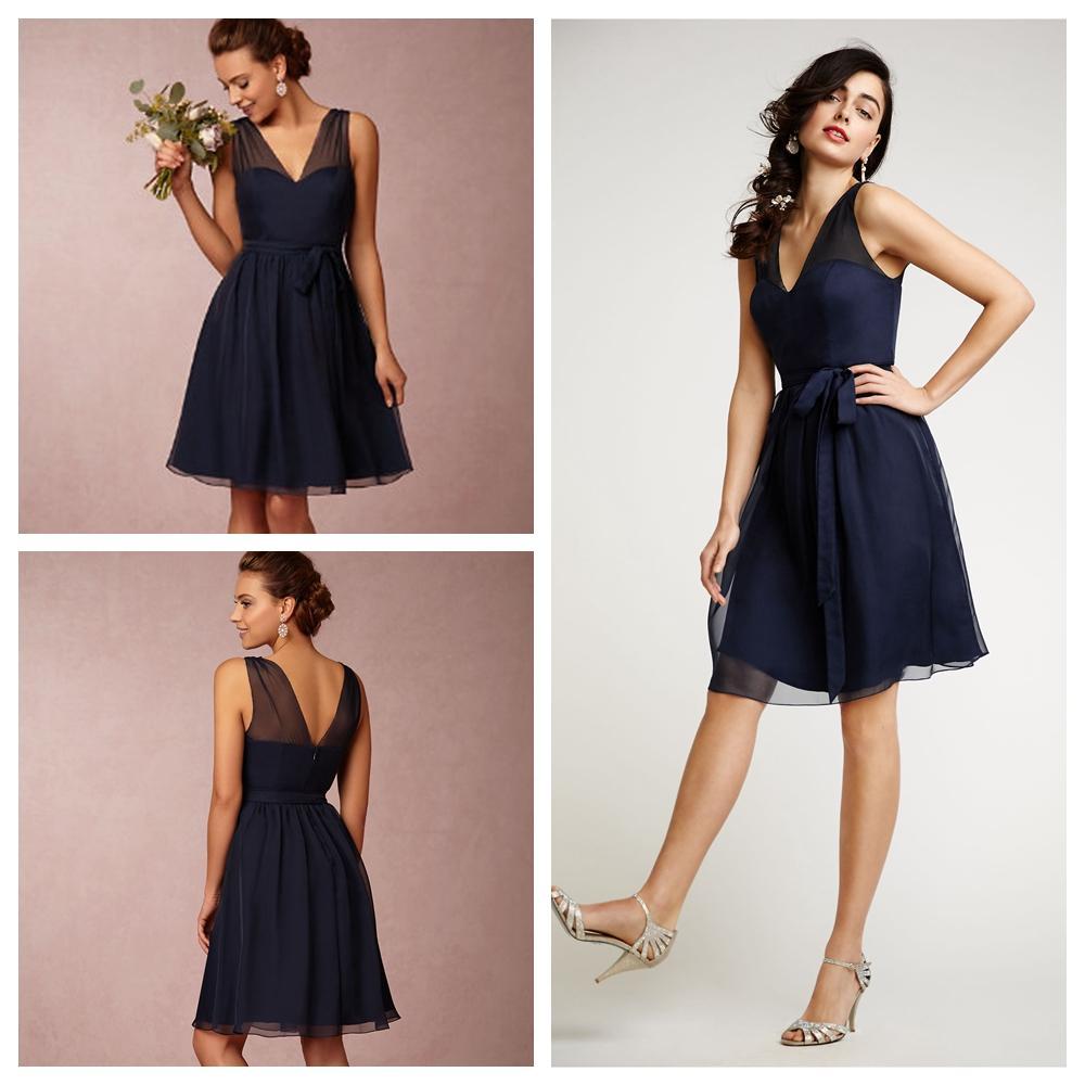 short bridesmaid dresses navy blue plus size bridesmaids dress cheap v neck plus size knee. Black Bedroom Furniture Sets. Home Design Ideas