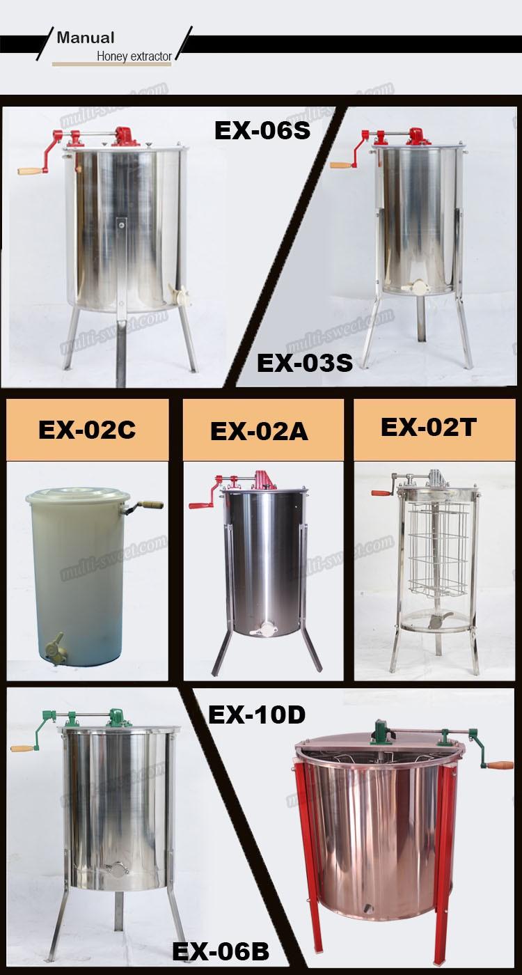 3 cadres en acier inoxydable manuel miel extracteur machines de d veloppement de miel id de. Black Bedroom Furniture Sets. Home Design Ideas