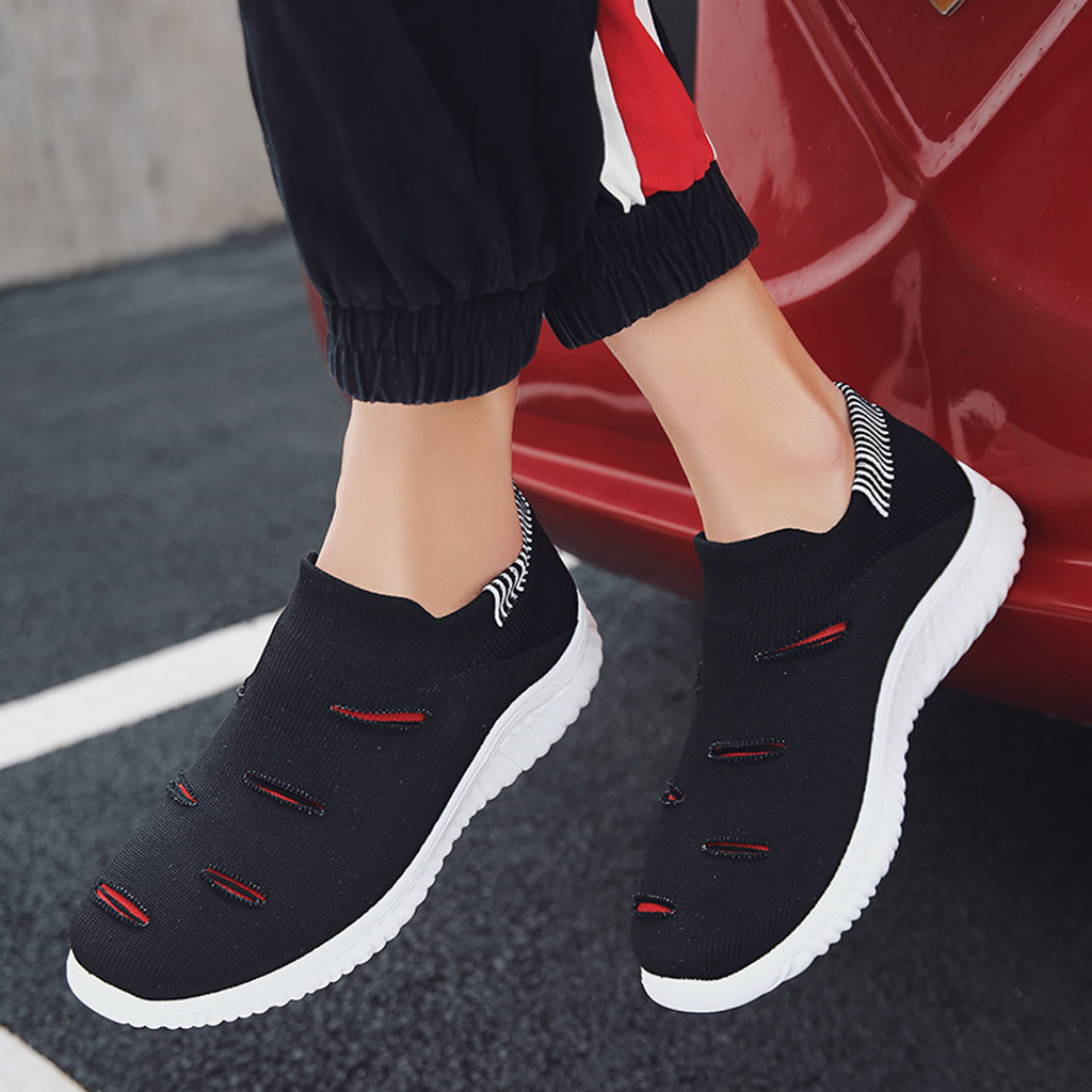 Shoes Muqgew Hollow Out Solid Big Size Flats Sneakers Shoes New Arrival Casual Sets Of Feet Lightweight Outdoor Non-slip Sneaker Shoes