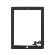 10/pcs DHL  For iPad 2 Touch Screen Digitizer Glass for iPad2 Touch Panel White & Black  + 3M Adhesive 01