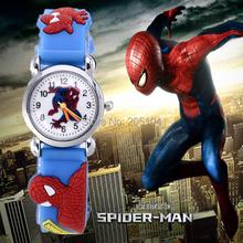 Detské silikonové hodinky Spiderman v rôznych farbách z Aliexpress