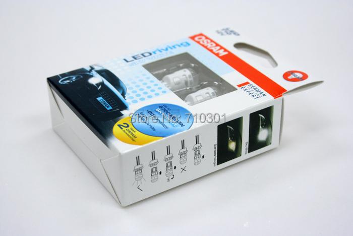 Бесплатная доставка! Автомобиль габаритных фонарей OSRAM из светодиодов расклинивающего небо белый габаритных огней 2880 SW T10 W5W 12 В 1 Вт 6700 К, Сделано в тайване