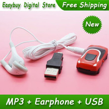 1pcs/lot New Style High Quality Mini Car Shaped Card Reader MP3 Music Player Gift MP3 Players With Earphone&Mini USB