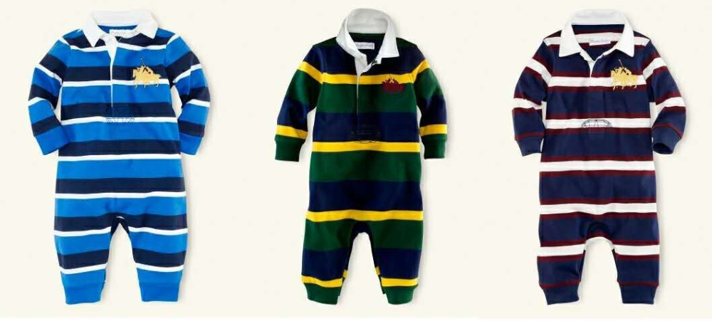 Retail Polo Newborn Baby Boy Clothes Long Sleeve Stripped Baby Rompers Baby Clothes Ropa Dede Bebe Noel Garcon Onesie Clothes
