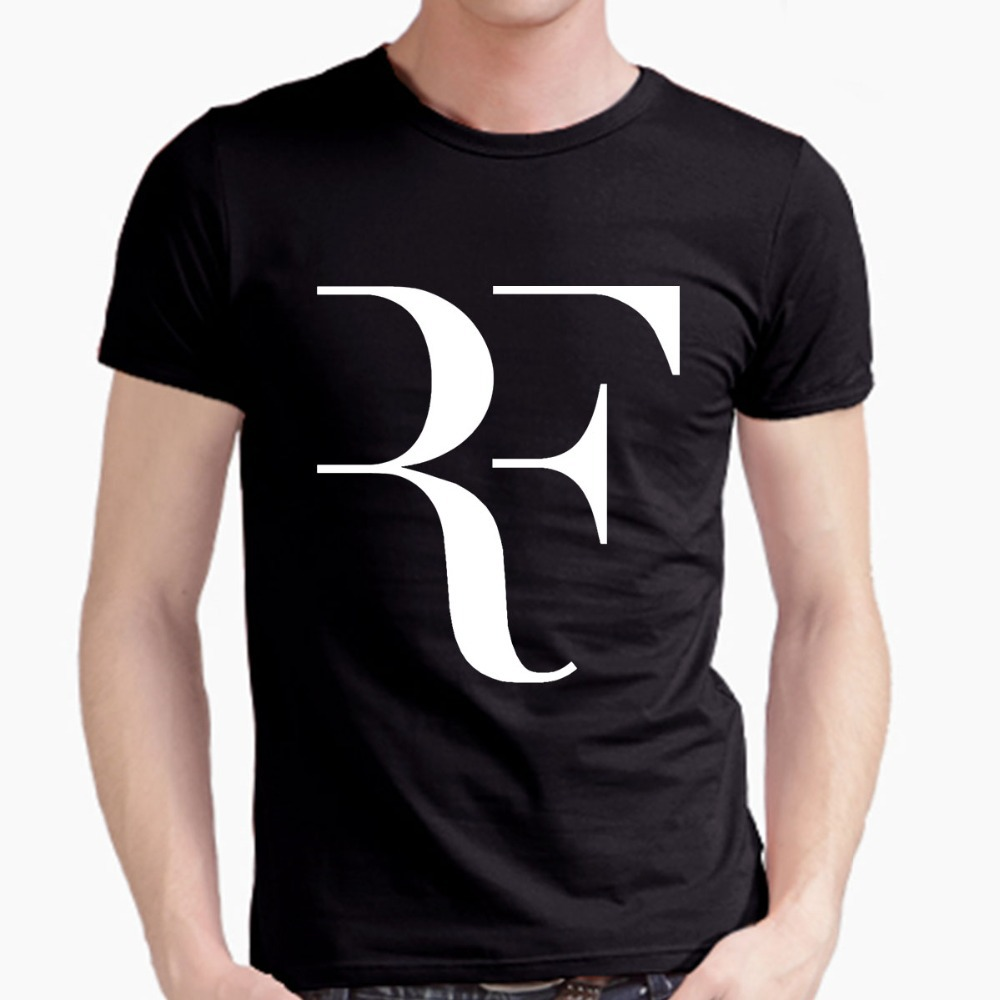 64a0c7d5 Roger Federer perfect logo t shirt 100% combed cotton RF Tennis tshirt New  men short sleeve t shirt high quality
