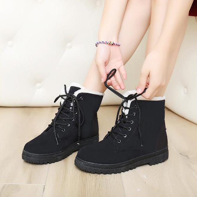 999d7a8e3553 Снегоступы зима ботильоны женские сапоги обувь плюс бархат наличники обувь  бота feminina 2016 на платформе модные. 1 фото  2 фото  3 фото  4 фото ...