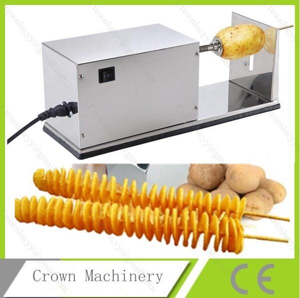 Best Rated Food Processors Electric potato cutter machine;Electric Potato Tornado ...