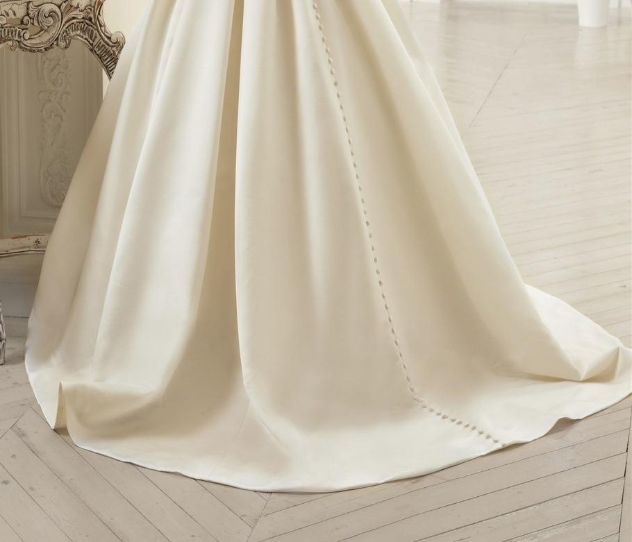 Elegant Simple Long Sleeve Wedding Dresses With Lace 2015: Elegante Manga Longa Simples Vestidos De Casamento Com