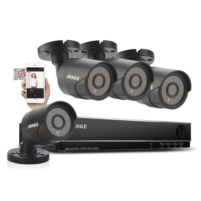 ANNKE 8CH 960H CCTV System Waterproof Video Recorder 900TVL Home Security Camera Surveillance Kits