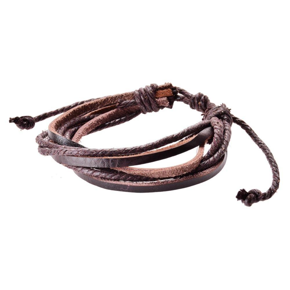 Lackingoneleather браслеты и браслеты для мужчин и женщин черный и коричневый плетеный канат мода человек ювелирные изделия