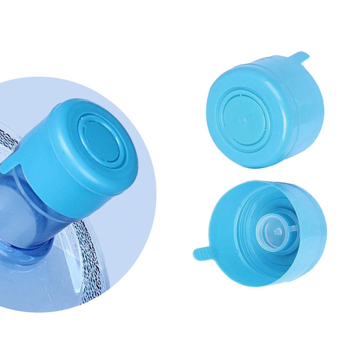 5 Reusable Water Bottle Non-Spill Cap Lid Replace for 55mm 3-5 Gallon Water Jug