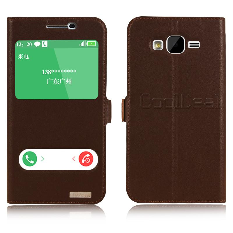 Retro Genuine Leather Flip Stand Cover Cases For Samsung Galaxy J5