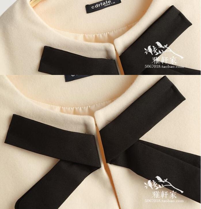 Осень кутюр сен женское линия японский основным костюм ветер пальто плащ тонкий бита плащ