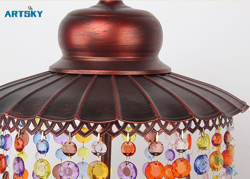 Bohemia Crystal Pendant Lamps Lighting Southeast Asia Color Crystal  Chandelier for Bedroom Bar Lamp Hallway Aisle Lights - us453 ad7396d650