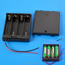 Battery Box holder ON/OFF Switch for 4 AA 4AA 6V OutPut Batteries + Box Cover Hot Sale Free Shipping