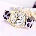 Spl Luxury Brand Women Clock Cute Glasses Cat Women Quarts Watch Brand Lovers Watch Women Leopard