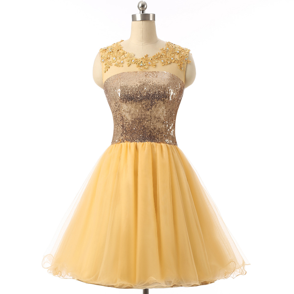 Cute yellow prom dresses