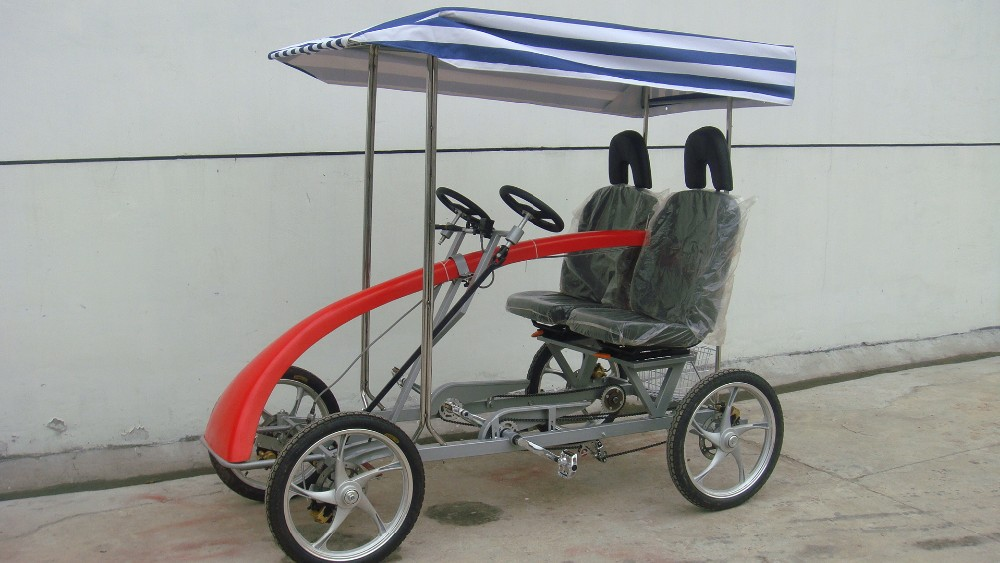 Steel 4 Person Used Surrey Bike For Sale Electric Tandem