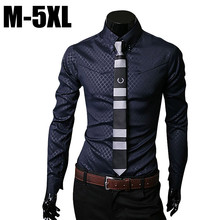 Men shirt long sleeve camisa social masculina casual slim fit mens plaid dress shirts clothes camisas masculinas chemise hombre