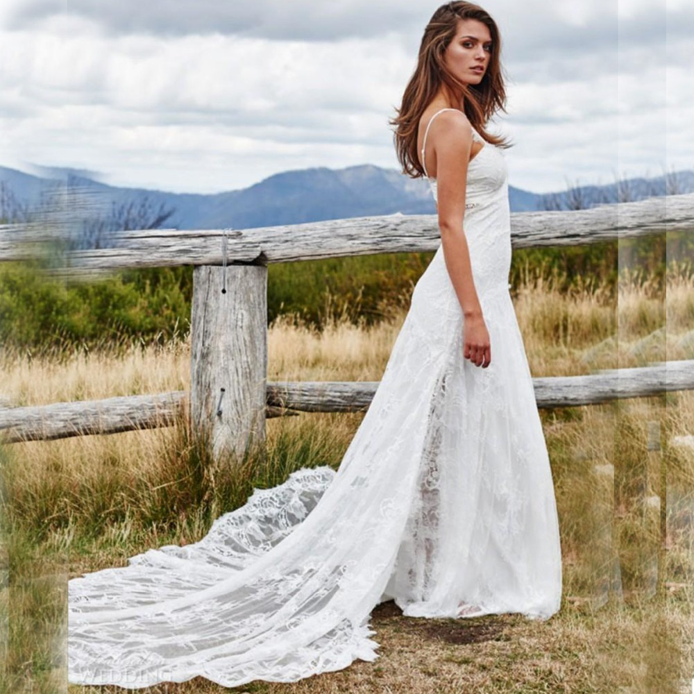 Greek Style Boho Bohemian Wedding Dresses Spaghetti Straps: Aliexpress.com : Buy Bohemian Wedding Dresses 2016 Lace