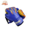 SUTEN Children Flame Mesh Palm Boxing Gloves Professional Sanda Boxing Training Glove Breathable PU Leather MMA