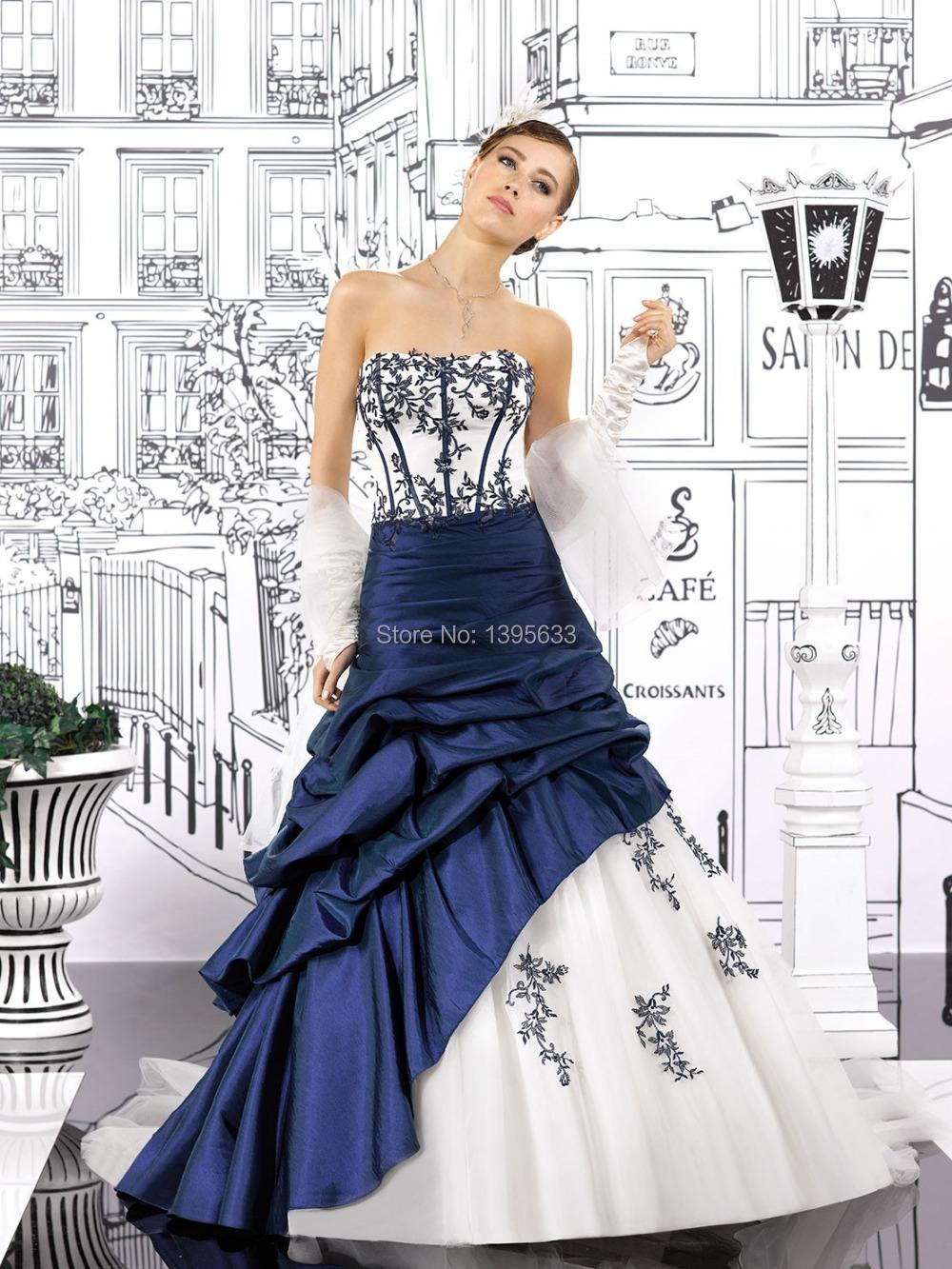 robe de mariee blanche et bleu roi robes la mode de. Black Bedroom Furniture Sets. Home Design Ideas