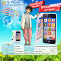 Y Phone English simulation learning toy phone educational machine toys plastic mobile phone with led light