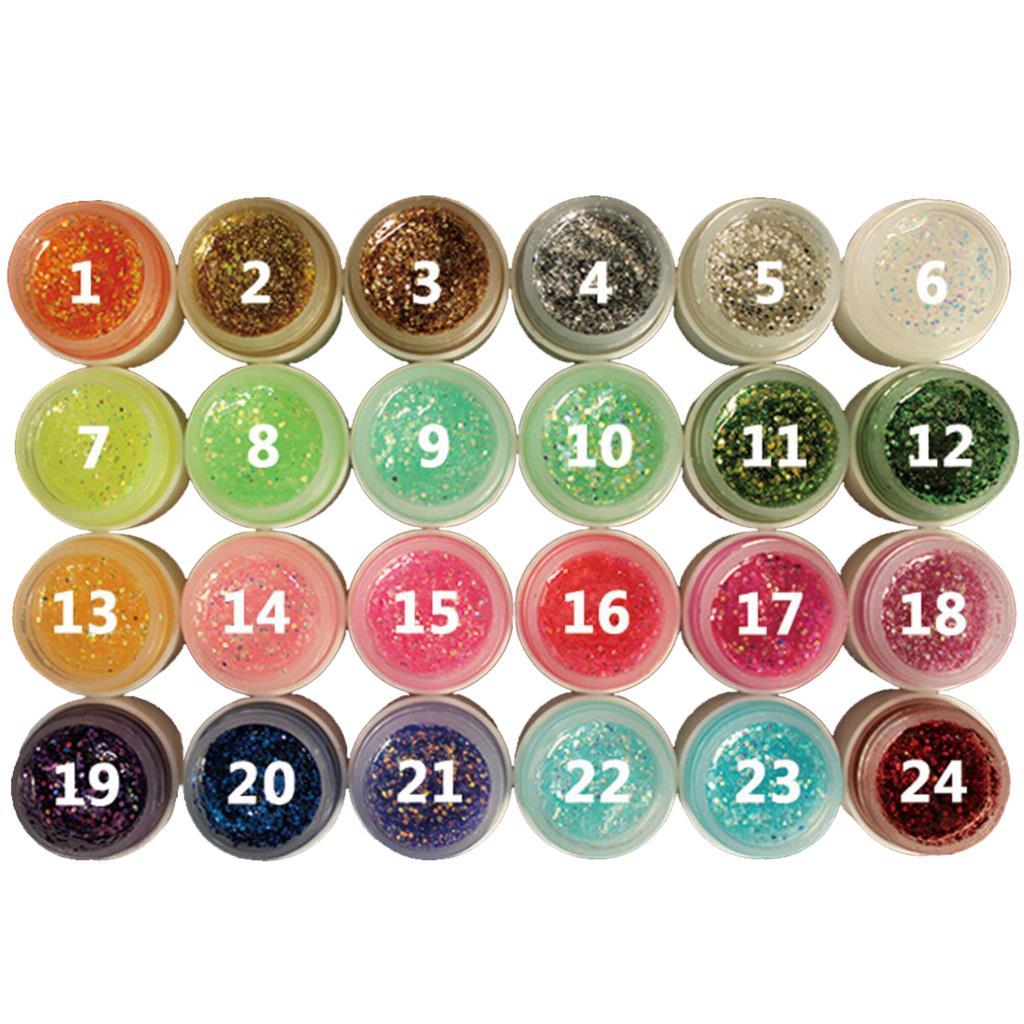 2016 new fashion high quality 8ml Glitter Powder Glue Nail Polish Soak Off UV Lamp Gel