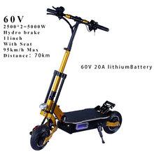 90 км/ч Электрический скутер 60 в 3200 Вт Мощный E скутер скейтборд Ховерборд Patinete Электрический аккумулятор для взрослых 135 км(Китай)