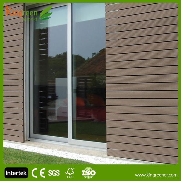Plastic Exterior Wall Decorative Panel Fire Resistant Wood