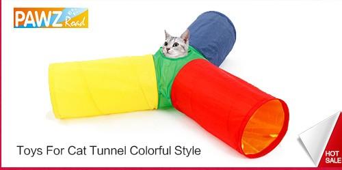 חדש-אדום, גריי מתקפל 2 חורים חתול המנהרה לשחק עם רעש נשמע חתול צעצוע
