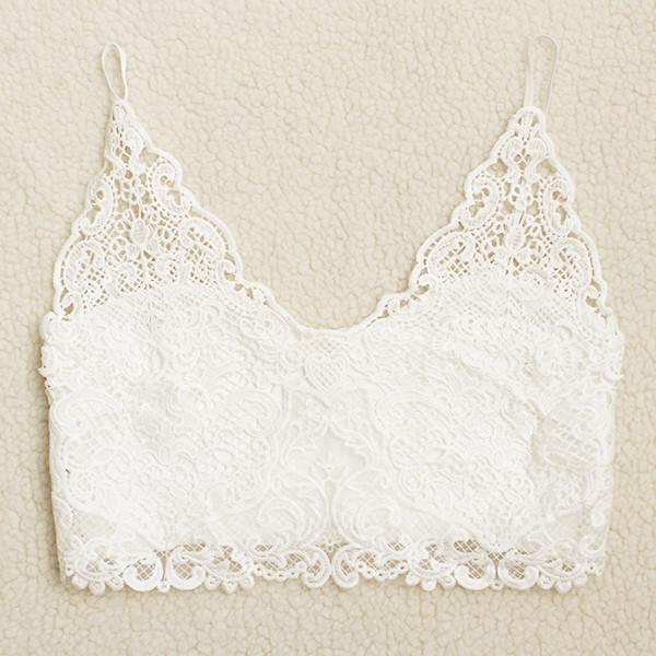 8979461724c8a 2019 Wholesale Sexy Vintage Bustier Crop Top Crochet Lace Floral ...