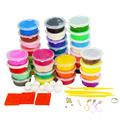 24 Colors Clay 12 Colors Foam Playdough Children s Educational Toys Play Doh DiY Handgum Intelligent