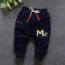 Autumn Spring Baby Kids Children Boys Girl Babi Print Casual Knitting Long Pants Full Length Trousers