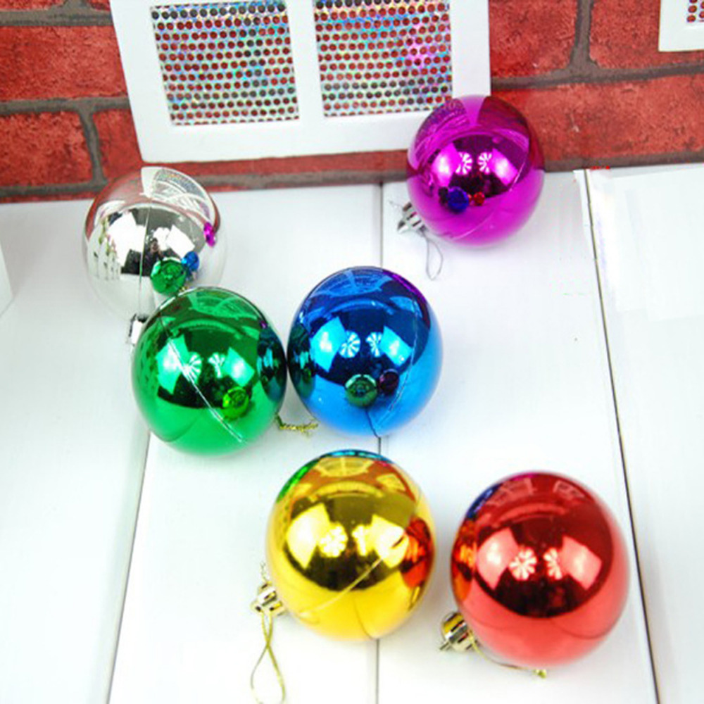 6pcs 6cm Christmas Tree Home Decoration New Year Xmas Party Hanging Pendants Decorative Ornaments Colorful Round Ball Baubles