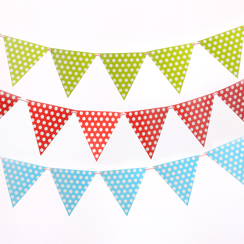 polka dot party flags - photo #1