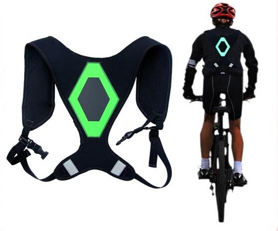 Новое изобретение ремни безопасности с из светодиодов свет + EL светоотражающие кроссовки безопасность жилет для мотоцикла ремни безопасности