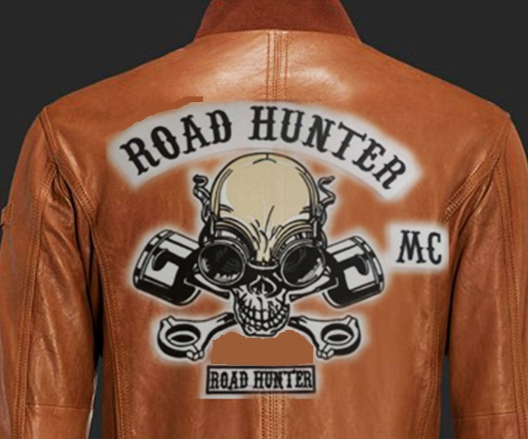 Leather jacket back patches