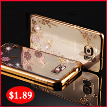 Original Case For Samsung Galaxy s6 s 6 Waterproof Case to Phone Transparent Luxury Brand Clear s6 Cover By TPU Girl Soft Thin