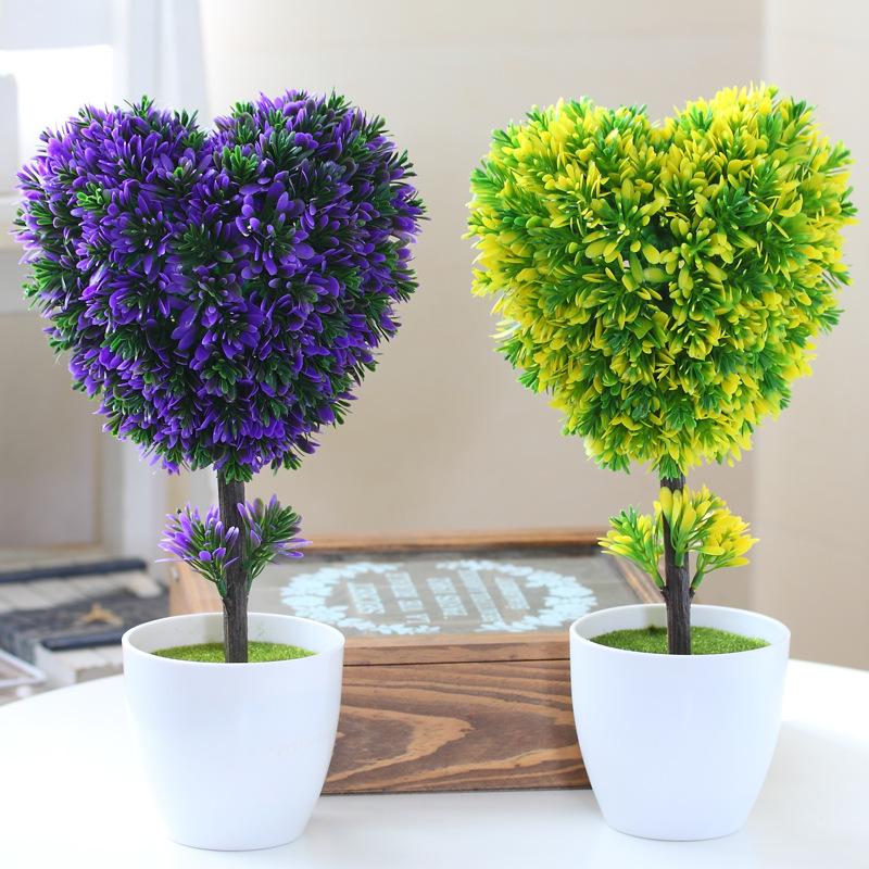 hyson shop decorative flowers artificial bonsai w pots planters artificial plants bonsai real. Black Bedroom Furniture Sets. Home Design Ideas