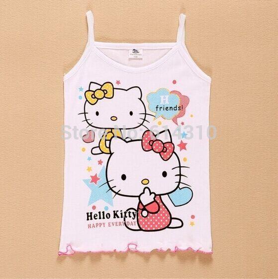 Free shipping 3pcs lot 2016 Girls Tanks Children Vest Beach Clothing Baby Girl Summer Wear Tops