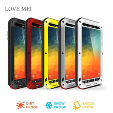 note5 n9200 Love Mei Waterproof Shockproof Gorilla Glass Metal Aluminum Case Cover For samsung galaxy note5 Three proofing cases