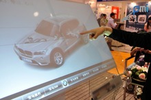 Interactive Dual touch foil Film through glass, 24″ Interactive touch Foil 16:9 format