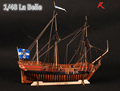 RealTS Wooden Ship Models Kits Boats Wooden 3d Laser Cut Scale 1 48 La Belle 1682