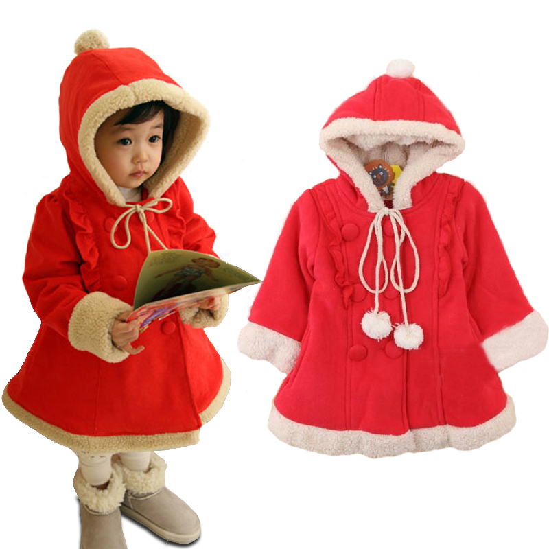 2 7Y Red Winter Baby Girl Clothes Cute Hairy Warm ...