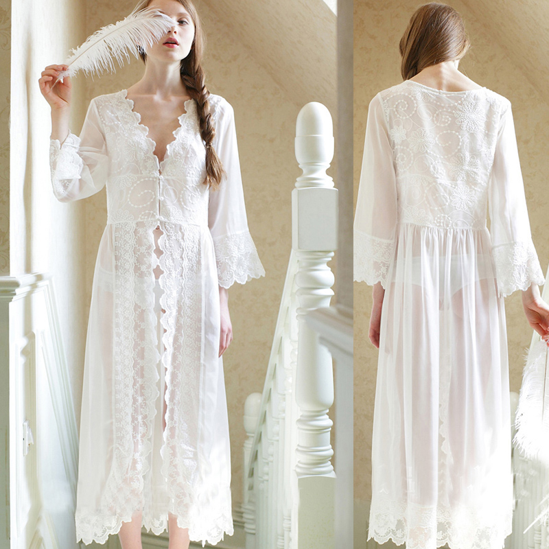 Detail Feedback Questions about Women s Sexy Lace V Neck Nightdress ... d9d80e38d