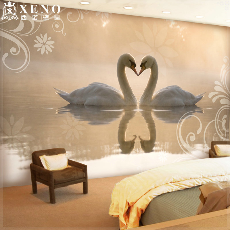 Elegant Wallpaper For Wall: The Large Mural Wallpaper Tv Sofa Background Wall