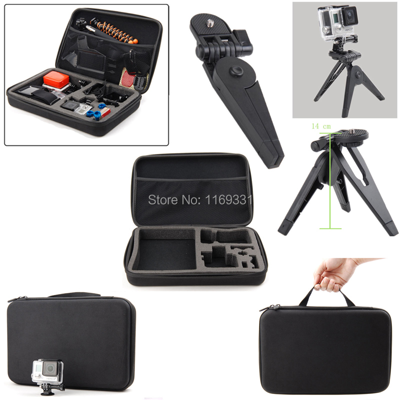 Go Pro Hero 4 Kit For GoPro Hero 4 3+ 3 Travel Storage Bag Chest Strap Holder