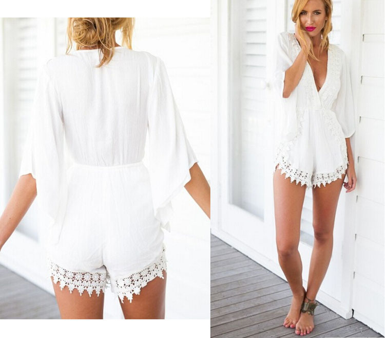 5545c6b5f1 Collection White Romper For Women Pictures - Reikian