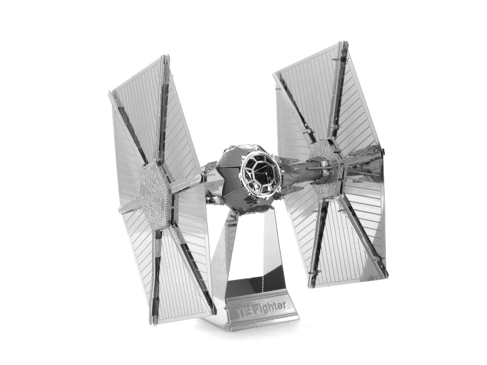 3D metal model Tie Fighter Star Wars 3D puzzle Wholesale price Stainless steel Etching Children s